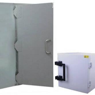Faraday gabbie e scatole di prova schermati